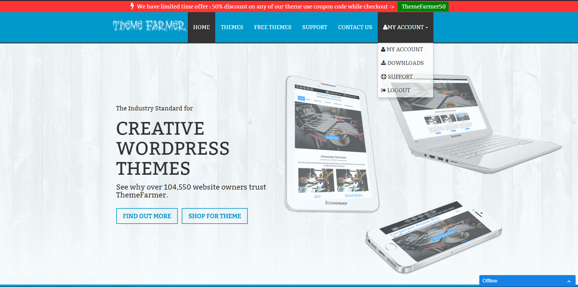 offline business themes